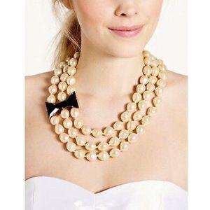 Kate Spade Black Tie Optional Pearl Necklace
